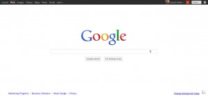 The new, cleaned up Google Search page