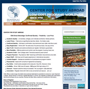 New Center for Study Abroad Website