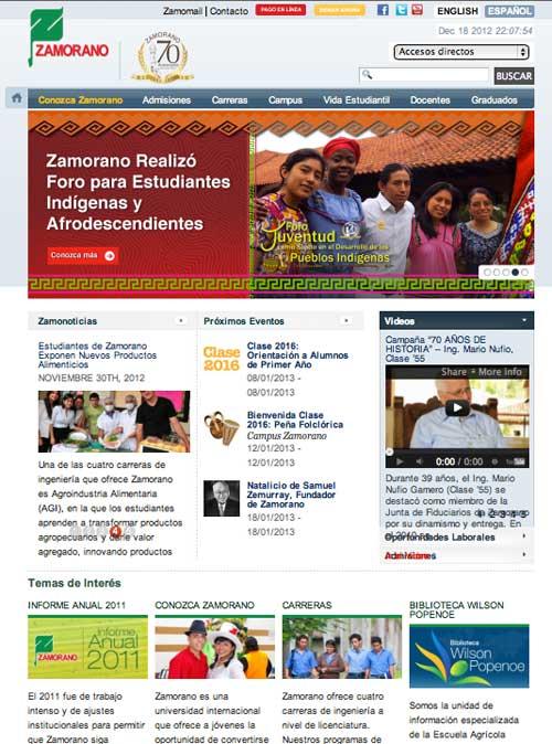 Updated website in 2011