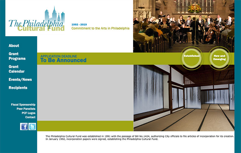 philadelphia cultural fund old website