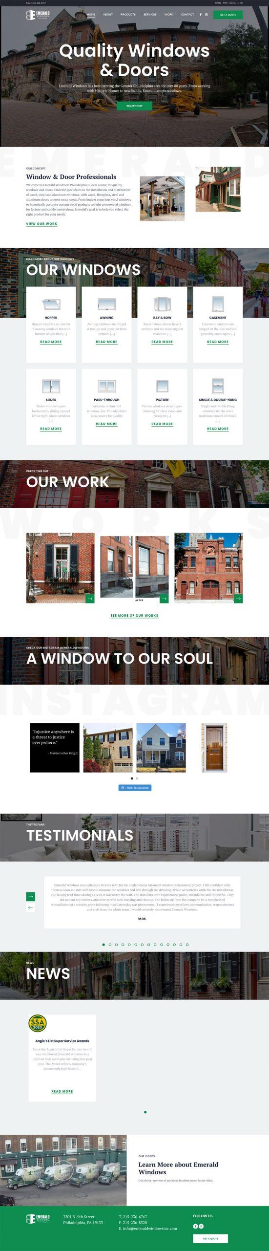 emerald windows website