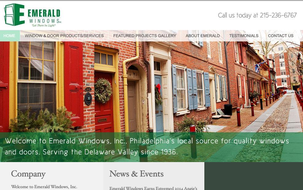 emerald windows old website